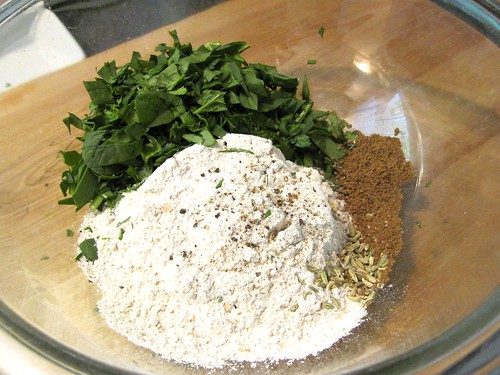 Bal Arneson Spice Goddess' Spinach and Basil Roti