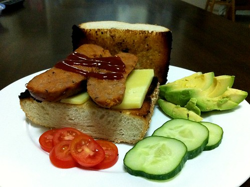 Turkey Chorizo on Toasted Bread by mjd-s