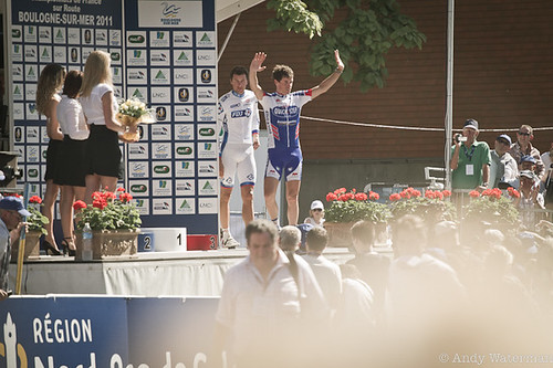 French National RR, the podium