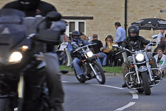 Leaving Cassington Bike Night 2011 (Chris Mullineux) Tags: bike nikon motorbike motorcycle oxfordshire cassington d90 bikenight cassingtonbikenight2011
