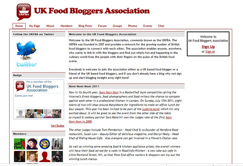 Nom Nom Nom in UK Food Bloggers Association - click to read more