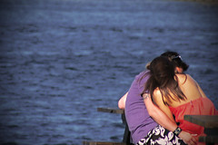 love is in the air! (osowska.marta) Tags: sea summer love beach hug couple cornwallunitedkingdom