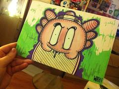 quick board (**MISS WAH**) Tags: street art graffiti board wah posca