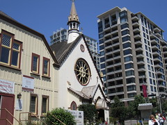 Church of Our Lord and neighbouring condo buildings (old and new) (@lacouvee) Tags: church victoriabc historicchurch humboldtvalley churchofourlord