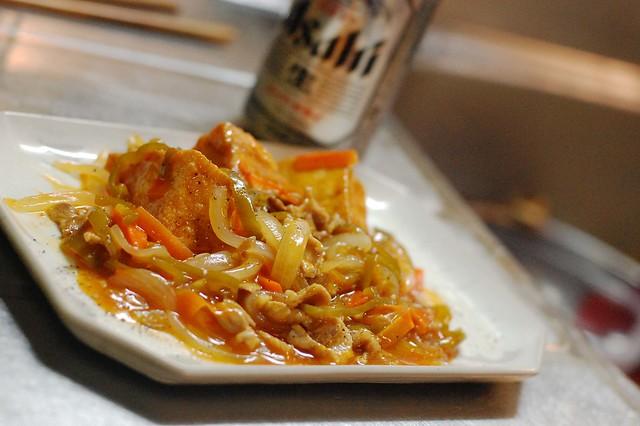 同居人リスペクトで厚揚げの甘酢炒め煮をつくってみました。 #gohan