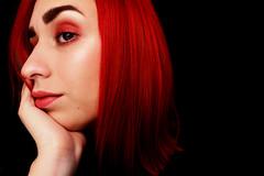 red again (CristinaSeijas) Tags: red rojo chica girl pelo hair eyeshadow sombra sombradeojos maquillaje makeup grunge retrato autorretrato autoportrait portrait selfportrait myself yo me eyes eye ojo ojos face cara rostro