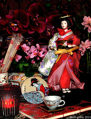 For Japan (faith goble) Tags: flowers red orchid art japan sushi book earthquake memorial doll artist candle photographer kentucky ky faith cc tsunami tabi help aid geiko geisha creativecommons poet writer kimono obi teacup africanviolet bowlinggreen memorium reactor votive tidalwave zori handbound 2011 chopsicks freetouse goble landoftherisingsun faithgoble gographix nuclearcatastrophe faithgobleart