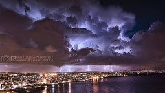 Latakia - Syria, All for one and one for all   (R.Azhari) Tags: sea seascape storm electric n