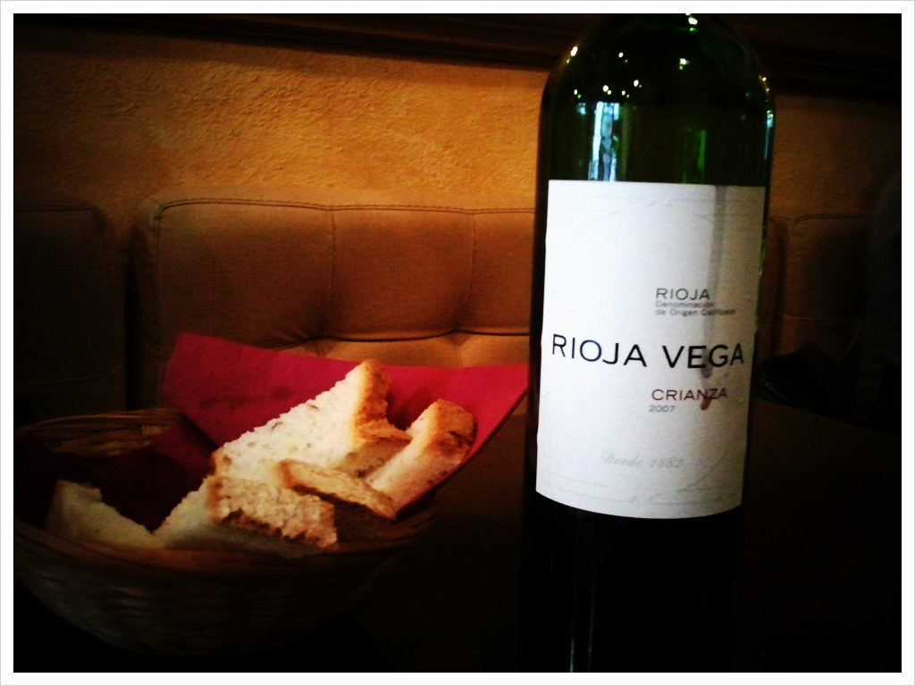 Spanish wine with lunch in Spain. Does it get any better than this?