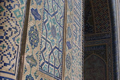 doorway to Sher Dor Medressa Samarkand (catherinehine) Tags: road architecture asia central silk tiles kari dor uzbekistan samarkand registan sher islamic medressa tilla ulugbek