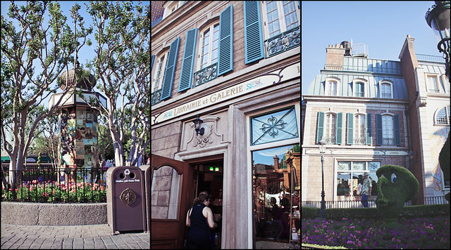 Epcot World Showcase France triptych