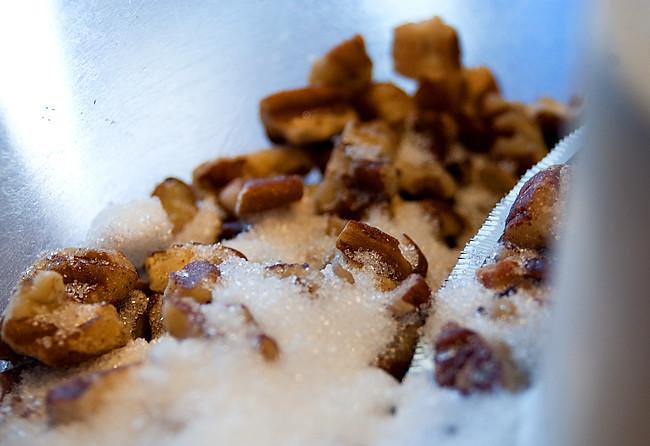 pecans and sugar