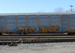 Myst Dwot (RyanWysong) Tags: train graffiti fan rail railfan freight myst autorack benching allnation dwot