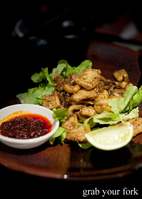 Five-Spice Fried Calamari With Sesame And Lime Recipes — Dishmaps