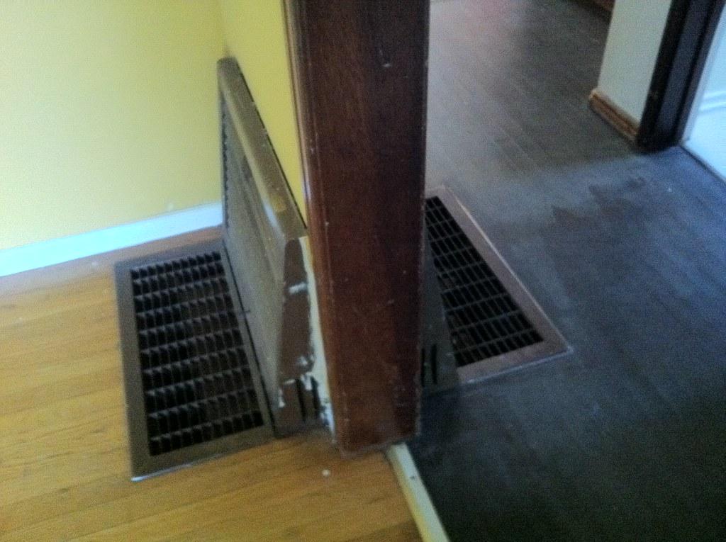 Floor vents.