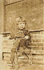 Boy on a trike, 1920's (Addie-B) Tags: 1920s boy vintage child trike