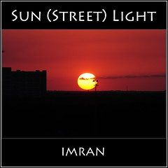 Sun (Street) Light - IMRAN™ — 15,000+ Views! (ImranAnwar) Tags: clouds d300 florida framed imran imrananwar night nikon orlando outdoors red silhouette sky sun travel yellow
