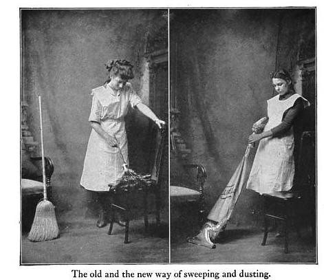 Old and New Way of Sweeping and Dusting