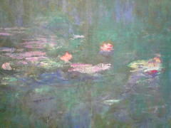 """Claude Monet, """"Les Nymphéas,"""" Reflets verts (detail of flowers)"""