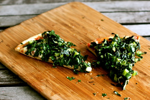 Spicy Roasted Kale Pizza