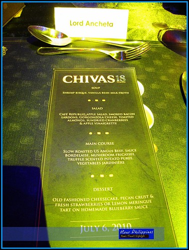Chivas Dinner Menu
