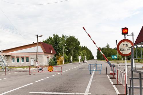 30km radioactive zone (Chernobyl) checkpoint