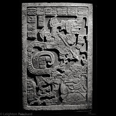 Mayan Lintel (Blood Offering) (widdowquinn) Tags: england sculpture london art stone stonework culture places carving relief mayan warrior shield serpent britishmuseum sacrifice spear bloodsacrifice bloodoffering yatbalam ladyxoc