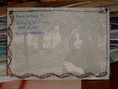 Fabric Postcard #1 back