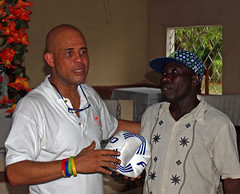 Michel Martelly in Bois Neuf
