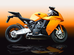 KTM 1190 (kenjonbro) Tags: uk orange reflection art pen kent mask ktm adobe gradient layer stylus photoshopcs 2008 tablet 1190 rc8 wacombamboopen