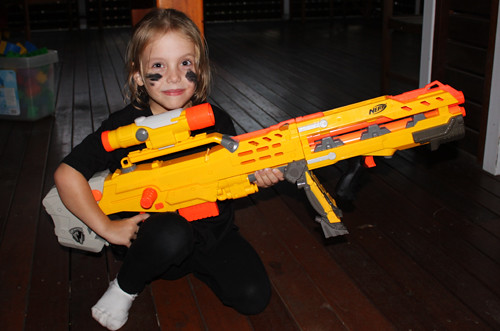 Nerf wars and the girl