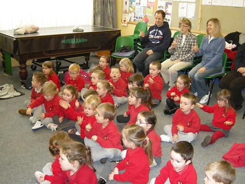 St Canices Nursery School Children with Deaf staff