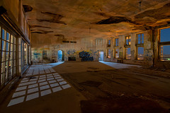 Moonlight Ballroom (Noel Kerns) Tags: abandoned night hotel texas baker wells ballroom mineral