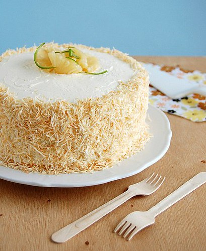Pineapple Cake with Coconut Buttercream Frosting | Fun and Food Cafe