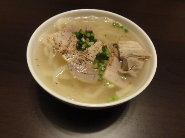 2011年4月7日 夕食(茹で豚の茹で汁でうどん)