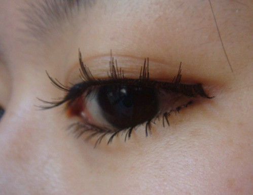 Wearing KKCenterHK fake eyelash set