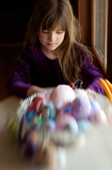 Almost Easter (djwtwo) Tags: portrait window lensbaby nikon experiment eggs composer sidelight doubleglassoptic