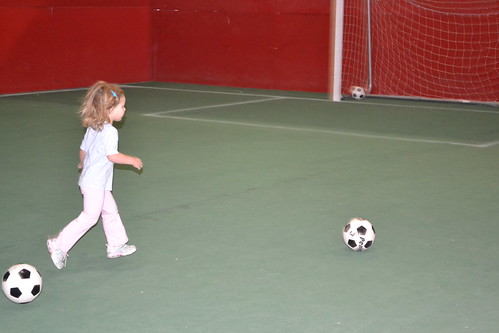Maddie Playing Soccer