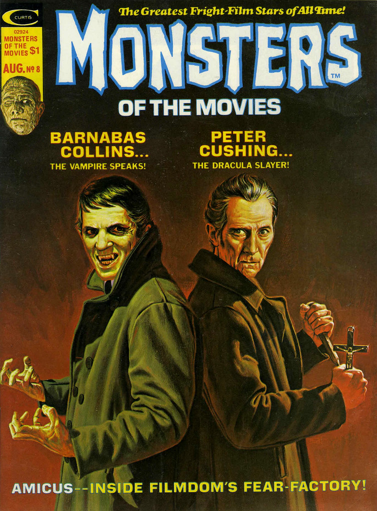 Monsters Of The Movies, Issue 8 (1975) Cover Art by Bob Larkin