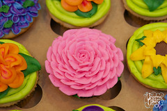 Girl Scout Gold Award Cupcakes (The Uncommon Cakery) Tags: flower cake karen cupcake bakery icing bake frosting mccown maury uncommon cakery theuncommoncakery