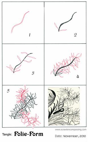 Tangle Pattern: Folie-Form