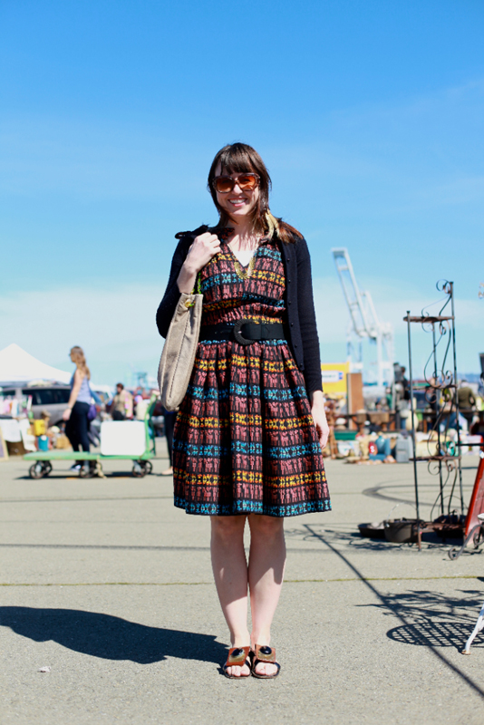 vintage dress - street fashion style alameda flea market