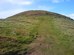 Path to top of Falkland Hill in Scotland