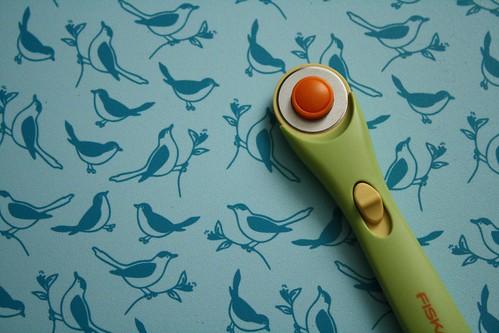 Cutting mat, birdie side
