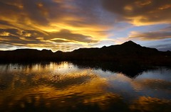Sundown (Ph0tomas) Tags: sunset sky lake newmexico water clouds sunrise reflections river landscape lumix pond g wideangle panasonic g1 714 vario mygearandme mygearandmepremium mygearandmebronze mygearandmesilver mygearandmegold mygearandmeplatinum mygearandmediamond ph0tomas