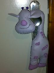Girafa de Maçaneta de Feltro (Recriarte) Tags: feltro decoração girafa decoraçãoquartobebê enfeitedemaçaneta girafadefeltro girafademaçaneta