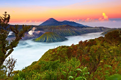 What nature delivers to us is never stale because it has eternity in it. Bromo - Tengger - Semeru National Park (tropicaLiving - Jessy Eykendorp) Tags: morning light nature sunrise canon indonesia landscape photography eos volcano nationalpark sand asia southeastasia desert outdoor caldera lee malang filters 1022mm gravel surabaya bromo active teng