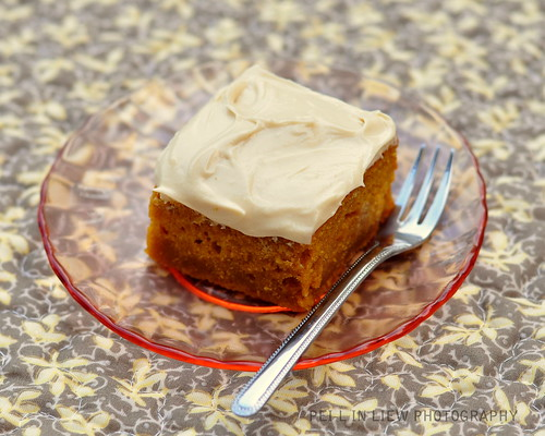 Pumpkin Bar With Maply Frosting