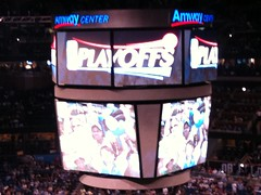 Let the Playoffs begin (msnguy81) Tags: orlando florida arena nba scoreboard amway orlandomagic centralflorida orlandoflorida nbaplayoffs nbabasketball amwaycenter