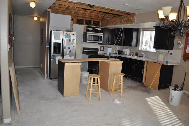 Demo'd kitchen but still functioning
